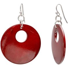 Mixit™ Red Doughnut Shell Earrings ($12) ❤ liked on Polyvore featuring jewelry, earrings, shell jewelry, sea shell earrings, red jewelry, earrings jewelry and mixit jewelry