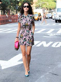 Floral Print Chic.   Love this look, and I love the shoes!