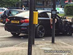 BMW M4 crashed in london united kingdom