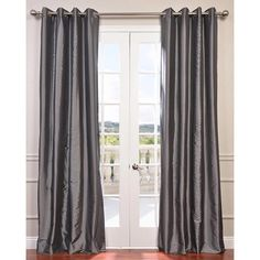 Half Price Drapes Faux Silk Taffeta Single Curtain Panel & Reviews | Wayfair