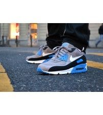 separation shoes 604a3 84089 Air Max 90 Essential Sport Grey Blue Black Trainer Outlet