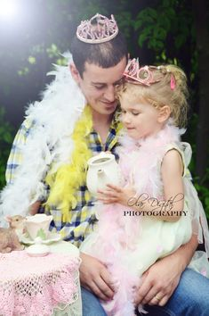 daddy and daughter tea party fathers day photo  Follow me on instagram and FB  Olar Digital PHotography