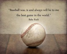 Baseball Art - 8x10 (10x8) Baseball photo print featuring a famous Babe Ruth quote - Customizable - Boys room decor, Man cave art. $18.00, via Etsy.
