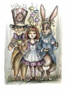 Illustrations of Alice in Wonderland. Would make a great tattoo.    I LOOOOOOOVE THISSS!!! :D