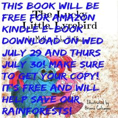 FREE  Cmon guys! Don't miss out on your chance to get the Ebook version of The Lucky Little Lyrebird for FREE! Last day! You can help save our rainforests and entertain your children at the same time!  FREE  #free #kindle #book #education #rainforest #gogreen http://www.amazon.com/dp/B00WLBQGE0