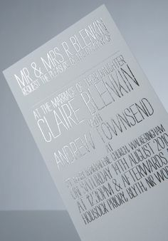 silver wedding invitation - see more silver wedding inspiration and ideas here http://burnettsboards.com/2012/09/silver-lining/