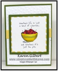 Life is a Bowl of Cherries by kaygee47 - Cards and Paper Crafts at Splitcoaststampers