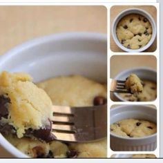 (S) Single Serving Chocolate Chip Cookie in a Mug | Trim Healthy Me: