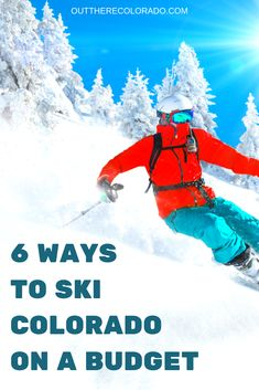 Want to ski Colorado on a budget? Here are 6 tips for hitting the slopes in Colorado while saving big bucks. Colorado Winter, Winter Park, Skiing Colorado, Winter Snow, Road Trip To Colorado, Visit Colorado, Travel Blog, Usa Travel Guide, Travel Guides