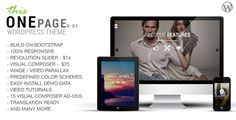 This One - One Page Responsive WordPress Theme by webcornice  ThisOne is a Wordpress Theme, ideal for all kind of Business Portfolio & blog. This theme can used as a Single Page and as a Mul
