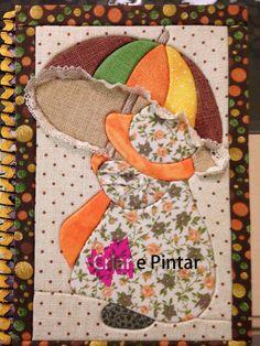 Caderno em patchwork embutido...