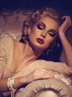 old hollywood glamour wedding hair and makeup - Google Search