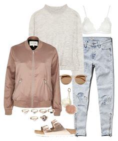 """Sin título #1119"" by vivig5 on Polyvore featuring moda, Abercrombie & Fitch, Acne Studios, Topshop, River Island, Birkenstock, Yves Saint Laurent, Forever 21 y Dorothy Perkins"