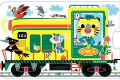 All Aboard Train Puzzle: Amazon.fr: Marc Boutavant: Livres
