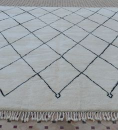 Superb and incredibly large Moroccan Beni Mrirt carpet! Available on my website www.beyondmarrakech.com