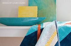 Laura Gunn's stunning Edges collection adds colorful texture to your projects