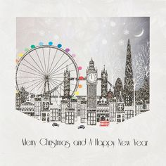 London scene charity Christmas cards - pack of 10 | All I want For ...