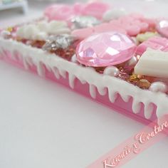 Super Sweets Pink & Cream iPhone 4/4S Case | $50.00    SHOP: www.etsy.com/shop/kawaiixcoutureHandmade decoden phone cases, jewelry, & accessories ♡