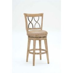 Hillsdale Furniture Reydon Swivel Counter Stool, White Wash Finish, Putty Vinyl Seat