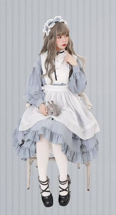 LolitaWardtobe - Bring You the latest Lolita dresses, coats, shoes, bags etc from Trustworthy Taobao indie Brands. We never resell Lolita items from untrustworthy Taobao stores. Harajuku Fashion, Kawaii Fashion, Cute Fashion, Fashion Outfits, Moda Lolita, Lolita Mode, Mode Pastel, Looks Kawaii, Cosplay Dress