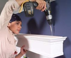 Building a cornice with great instructions and the perfect way to attach it to the wall.