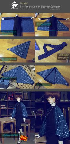 5th Atelier Tutorial: No-Pattern Cardigan by Ylden.deviantart.com on @deviantART
