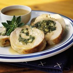 Low Calorie Turkey Breast With Spinach-Feta Stuffing. Calories: 191 Per Serving.