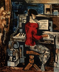 Au piano by Marcel Gromaire, 1927