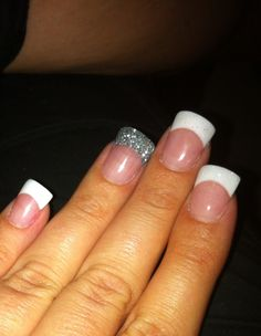 Acrylic Pink White Nails With Baby Flare Love My Nail Lady