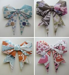 Upcycled Paper Gift Bows