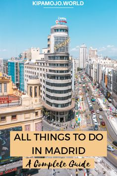 This complete sightseeing guide contains all things to do in Madrid, including Retiro Park, Royal Palace of Madrid (palacio real), Plaza Mayor and much more! This is your go to guide for your stay in Madrid. Travel Europe, Us Travel, Travel Destinations, Travel Tips, Stuff To Do, Things To Do, Visit Madrid, Spain Travel Guide, Royal Palace