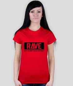 Koszulka damska RAVE różne kolory. http://tomishop.pl
