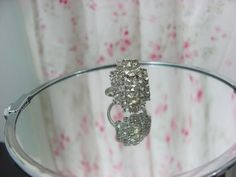Rhinestone adjustable ring bling by foxridgeframes on Etsy, $15.00