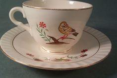 Vintage Tea Coffee Cup Figgjo Flint Norway Rooster by shanasattic