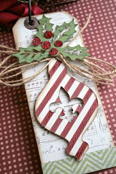 *Teresa Collins Christmas Cottage mini tag book pg.3 - Scrapbook.com