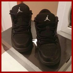 Black jordans Only worn a hand full of times still in grest condition! Jordan Shoes Sneakers