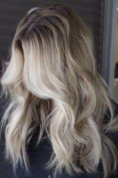long blonde balayage and waves