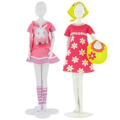 Dress your doll - Tini and Twiggy Outfits Sewing Barbie Clothes, Doll Clothes, Dress Up Dolls, Barbie Dolls, Barbie Patterns, Weird And Wonderful, Twiggy, Fine Motor Skills, Harajuku