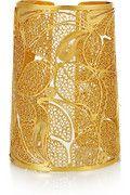 So gorgeous, HINT HINT: Mallarino Cielo 24-karat gold-vermeil filigree cuff