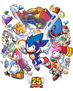 Happy 25th, Sonic the Hedgehog by herms85 on DeviantArt