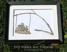 DIY Nature Art for kids ~ Creating art with stones Stone Crafts, Rock Crafts, Art Crafts, Pebble Pictures, Art Pictures, Preschool Arts And Crafts, Painted Rocks Kids, Rock And Pebbles, Sea Glass Art
