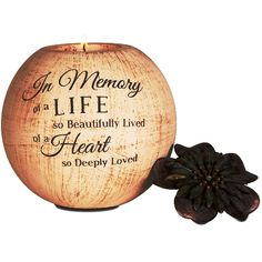 """In Memory of a Life"" Sympathy Candle"