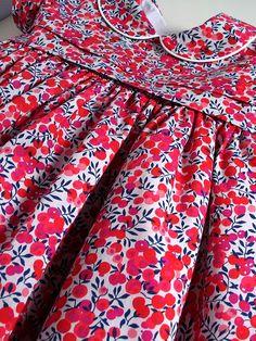 liberty Wiltshire berries dress, liberty dress for girls, liberty Wiltshire berries, classic liberty dress, classic dress for girls