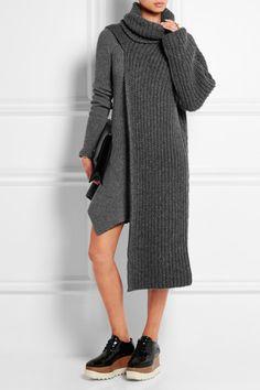Stella McCartney robe pull grise
