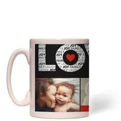 Love In A Word Mug, White, 15 oz, DynamicColor