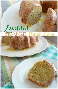 This is a wonderful way to use up a few zucchini. This cake is incredibly moist! The fresh orange flavors and glaze make this cake even more perfect for summer.