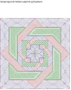 computerized digitized quilting patterns for the large labyrinth quilt by Calico Carriage quilts