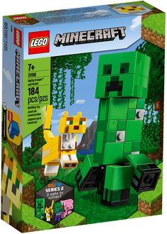 LEGO Minecraft 21156 pas cher, Bigfigurine Creeper et ocelot Lego Minecraft, Minecraft Ideas, Ocelot, Gumball, Legos, Bloc Lego, Minecraft Decoration, Jungle Tree, Dragon Slayer
