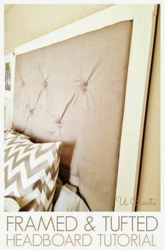 DIY Framed & Tufted Headboard Tutorial