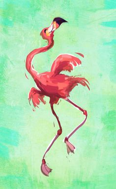 Simini Blocker — Dancing flamingo. Because… do I need a reason?
